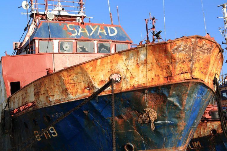 Senas žvejybinis laivas Agadire