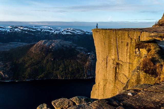 Preikestolen uola Norvegijoje
